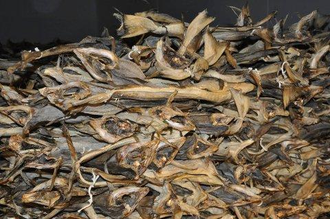 HALVERT: Eksporten av tørrfisk ble halvert i april i år sammenlignet med april i fjor
