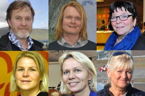 Kurt Atle Hansen (SV), Espen Sejerstad (MDG), Eva Karin Busch (Ap), Hilde Holand (KrF), Anne Sand (Sp), Rita Iren Nordheim (H).