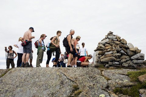 Populært: Keisermarsjen har eksistert i 30 år. Folk fra hele verden har tatt turen til Digermulen. Bildet er tatt under marsjen i  2013.