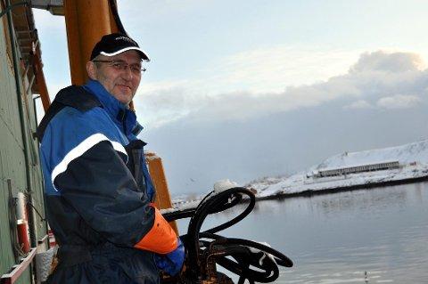 NAVNEENDRING: Morten Jentoft er fornøyd med at de nå har fått gjennomført navneendringen på selskapet som driver ett av de to fiskemottakene på Napp.