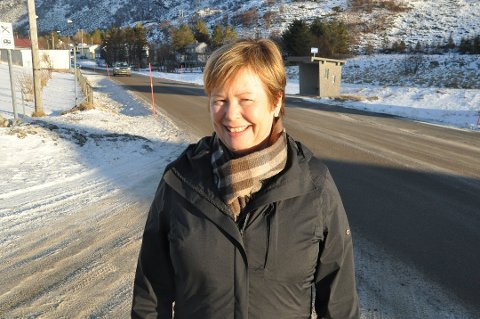 GANGVEI: Stortingsrepresentant Siv Mossleth (Sp) mener gang- og sykkelvei på Ramberg (bildet) kan løses om Statens vegvesen er mer fleksibel.