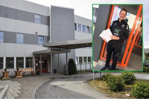 Stilte opp: I.L Blest stilte opp med to nettbrett til sykehjemmet på Gravdal. Senere fredag kom Johan Eliassen & Sønner AS på banen med to til.