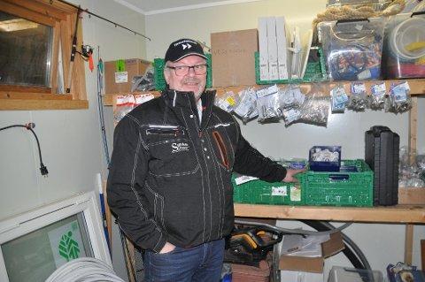 LOFOTEN: Bjørn Eirik Larsen på Sørvågen vil være med å kampen om salg og montering av varmepumper i hele Lofoten.