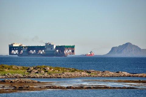 NYVINNING: I juni 2020 ankom Nordlaks sin nye havfarm yttersiden av Hadseløya. Foto: Arthur Johansen