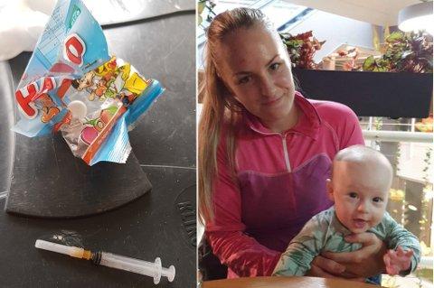 UBEHAGELIG OPPLEVELSE I TROMSDALEN: Småbarnsmor Anette Jensen (27)  forteller om hva hun fant i oppkjørselen sin fredag formiddag.