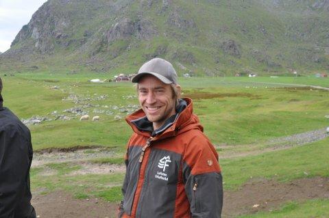 FORNØYD: Daglig leder i Lofoten Friluftsråd, Peter Andersen, er fornøyd med starten på Stolpejakten.