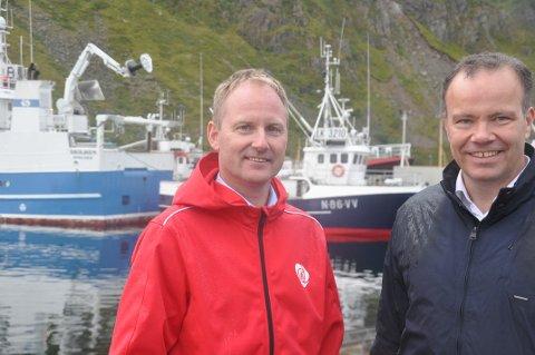 GRØNT SKIFTE: Lofotrådets leder Remi Solberg og fylkesrådsleder Tomas Norvoll mener Lofoten er godt egnet som nasjonal pilot for grønn omstilling. Foto: Magnar Johansen
