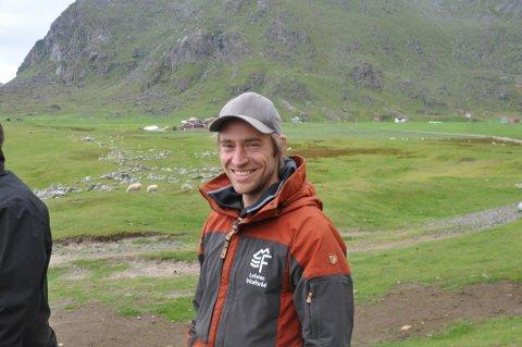 Støtte: Lofoten friluftsråd får 35.000 kroner for å etablere stolpejakten i Lofoten. Daglig leder i friluftrådet, Peter Andresen er fornøyd med bidraget.