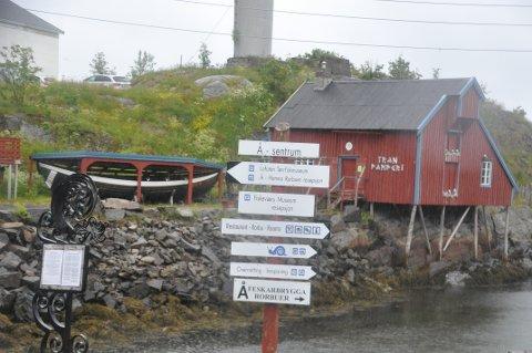 SENTER: Det blir en stund til Lofoten Malstrømsenter kommer på listen over severdigheter på Å. Foto: Magnar Johansen
