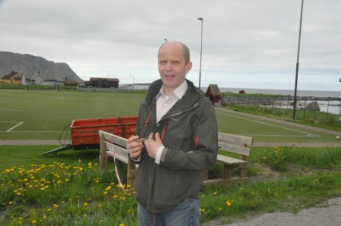 KOSTNADER: Flakstad-ordfører Trond Kroken har fått sammenlignet driftskostnader i forhold til andre kommuner. Foto: Magnar Johansen