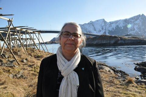 RORBUGRENSE: Moskenes-ordfører Lillian Rasmussen mener kommunen bør bruke prosessen med ny samfunnsplan til å vurdere om bygging av rorbuer bør begrenses. Foto: Magnar Johansen