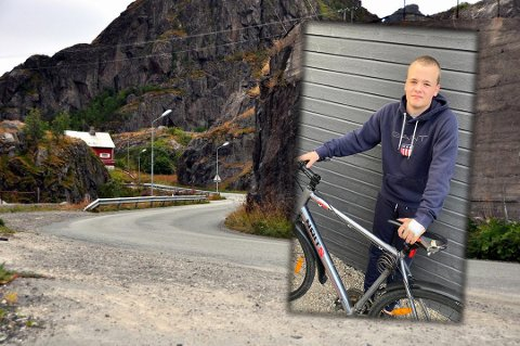 Adrian Fossli (15) måtte kjøre i grøfta, da han hørte en bil komme bak seg i stor fart i Vaglesvingen.