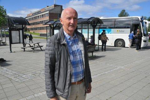 UNNGÅ KAOS: Søren Fredrik Voie mener shuttlebuss til Hauklandstranda er en fremtidsrettet løsning.