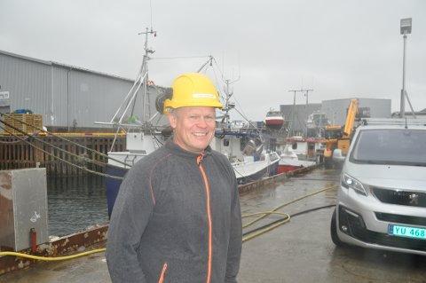 FORNØYD: Daglig leder Roger Abrahamsen ved Ballstad Slip er fornøyd med 2020. - Det ble bedre enn vi ventet da koronapandemien brøt ut. Foto: Magnar Johansen