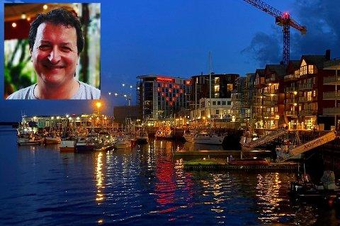Teknisk leder ved Lucjan Golas er mannen bak lyssettingen av Thon-hotellet i Svolvær. - Det var hotelldirektør Erik Taraldsen som fikk ideen, sier Golas.
