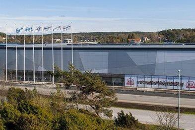 Åpner snart: Nytt kjøpesenter i Strømstad.