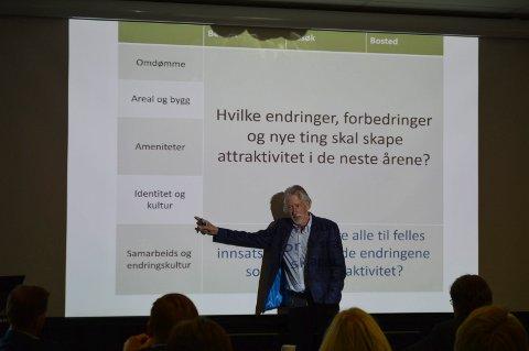 IDENTITET: Knut Vareide fra Telemarksforskning hadde sett på Moss og Rygge. – Identitet og kultur er veldig viktig for attraktivitet, sa han.