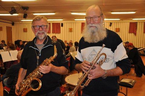 VETERANER: Per Ivar Lyby (til venstre) og Stein Pedersen er begge veteraner, i henholdsvis Rygge- og Råde-korpset.