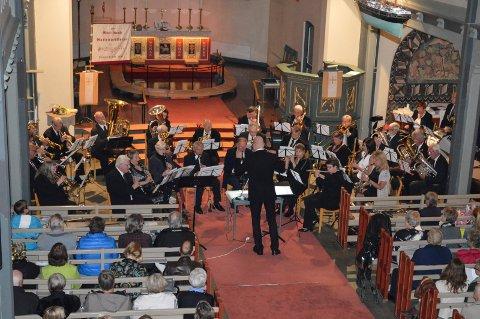 NYTTÅRSKONSERT: Moss Gamle Guttemusikkorps holder konsert i Moss kirke 1. nyttårsdag.