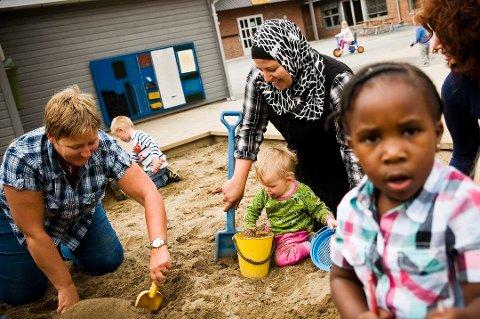 STARTER TIDLIG: Flere innvandrerbarn i barnehagene i Moss er blant de mange tiltakene i integreringsplanen som fungerer bra.