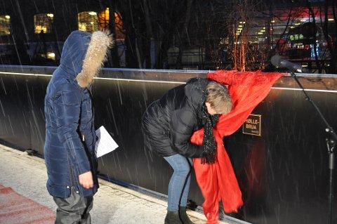 MØLLEBRUA: Lørdag fikk den nye brua offisielt navnet Møllebrua.