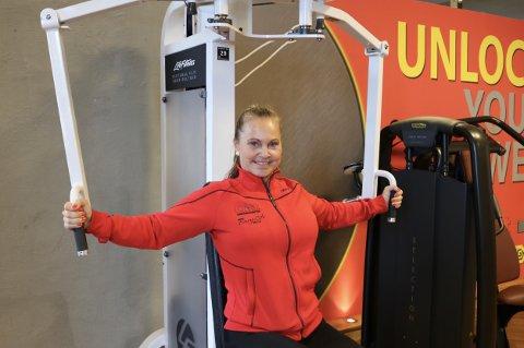 Ute er det tropevarmt, men hos Ann-Kristin Holder på Ditt treningssenter er det behagelig treningstemperatur.