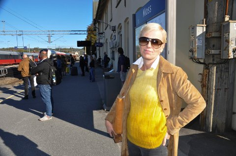 OFFER: Marianne Guttormsen valgte å reise hjem til Fredrikstad etter at toget hennes mot Oslo 13. august måtte snu før Kambo.
