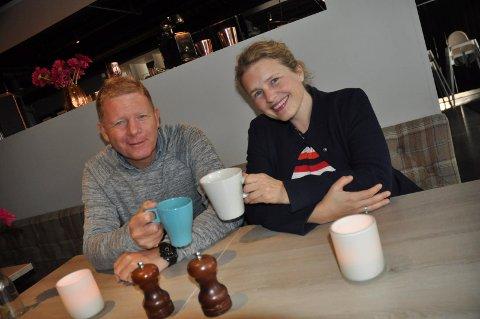 VEL BLÅST: Geir Meum Olsen og Kari Jenseg i Nonstop-festivalen er godt fornøyde.
