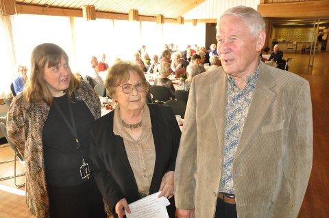 SENTRALE PERSONER: Kommunalsjef Cathrine Retvedt (fra venstre), Eldrerådets leder Gerd Skovdahl og humørspreder Odd Strømnes.