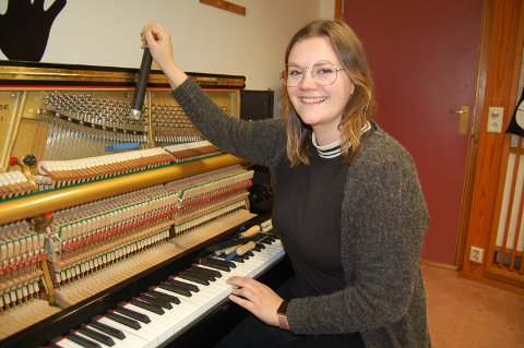 STEMMER PERFEKT. Gabrielle Christiane Fleischer Kornberg fra Moss er i ferd med å utdanne seg til et yrke det er stor etterspørsel etter i Norge.