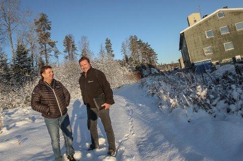 HAR TRUA: Dan Sundby (t.v.) og Ivar Nilsen har begge satset på Nordbybråten. Begge tror at området har et stort utviklingspotensial.