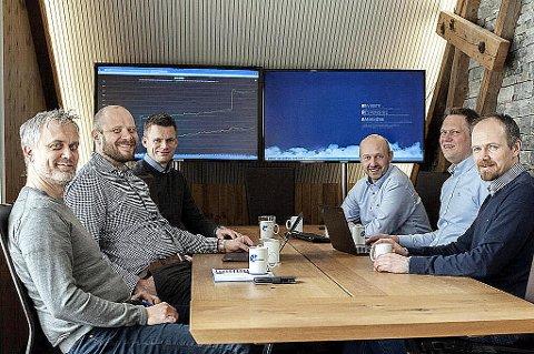 VOKSER: Braathe Gruppen vokser gjennom kjøp og sikter mot en dobling av omsetningen. Her er ledergruppen samlet: Fra venstre Even Myrvold, Tor Jahren, Håkon Svendsen, Tron Braathe, Thomas Rossfjord og Ole Braathe.