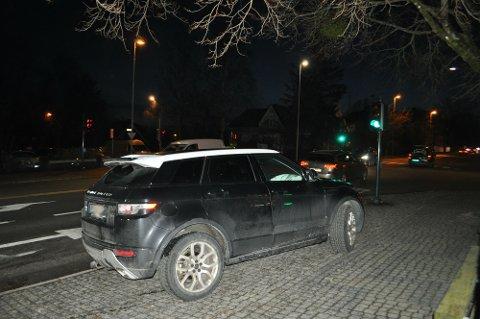 UTLØST AIRBAG: Airbagen i den ene bilen ble utløst i sammenstøtet, men det var ingen personskader i forbindelse med ulykken.