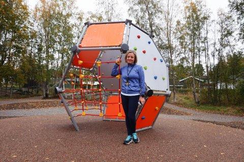 AKTIV: Rektor Line Lofstad Andersen ved Brevik skole er positivt innstilt til mer fysisk aktivitet for skolebarn.