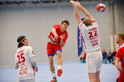 TOPPSCORER: Mathias Langli satte ni mål i nettet da Rørvik tok sin første seier mot Strindheim søndag.