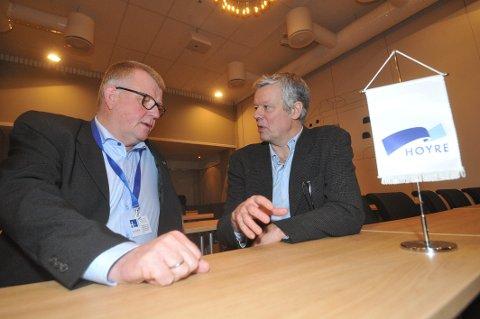 NEI TIL GJENVALG: Både fylkesleder Michael Momyr (til venstre) og 1. nestleder Anders Kiær i Trøndelag Høyre har sagt nei til gjenvalg foran fylkesårsmøtet siste helga i januar.
