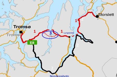 En framtidsrettet fastlandsforbindelse mellom Tromsø og til Lyngen og videre nordover må realiseres snarest, skriver Viggo Hansen