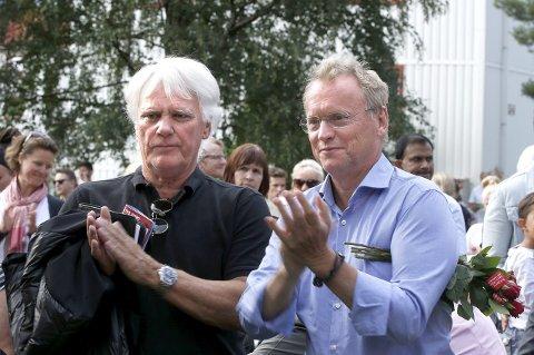 GLADE AP-GUTTER: Frode Kyvåg sammen med Raymond Johansen under partiets valgkampåpning i høst. Foto: Terje Pedersen NTB/Scanpix