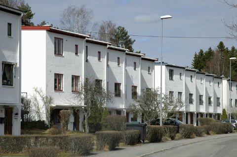 BØLERSKOGEN: Rekkehusene i Bølerskogen.