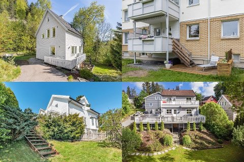 SELGES I SOMMER: Det er klokt å la boligen ligge ute for salg i juli, mener eiendomsmegler Soliman Sarwar. Her er et knippe boliger som er til salgs i vårt distrikt akkurat nå: Nordstrandveien 117 A (øverst til venstre), Bergkrystallen 11 (øverst til høyre), Østbyfaret 9 E (nederst til venstre) og Smedbergveien 7 (nederst til høyre). Bildene gjengis med tillatelse fra megler/selger.