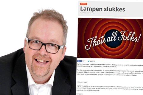 """FLYTTET: Knut Sandersen har tidligere bodd i mange år i Karlsøy, men er nå flyttet sørover. Til høyre deler av """"avskjedsbrevet"""" han publiserte i forrige uke. Foto: Privat"""