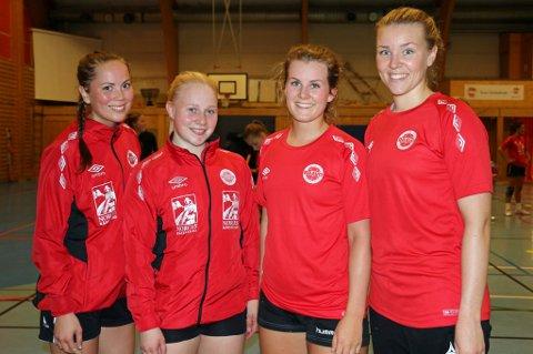 Tonje Kristiansen (t.v.), Ingebjørg Skaalerud Baadshaug, Mathilde Næss og Mari Sørholt var med på den overlegne seieren til Bravo over Vadsø Turn.