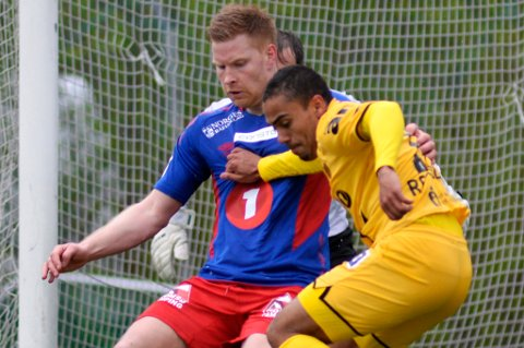 Eirik Bertheussen, her i aksjon mot Bodø/Glimt i cupen i år, fikk både verbalt og fysisk utløp for sitt sinne etter TUILs 1-2-tap for KFUM søndag.