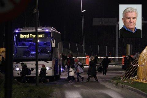 TROMS DENNE UKA: UDIs regiondirektør Bjørn Fridfeldt (innfelt) sier at de håper å kunne ha 300 hasteplasser for flyktninger på plass i Troms denne uka.
