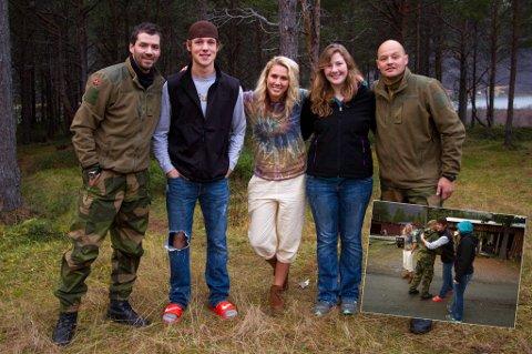 De tre ungdommene får møte soldatene etter søndagen.