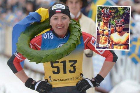 Polske Justyna Kowalczyk skal den kommende skisesongen gå for Team Santander, sammen med blant andre Andreas Nygaard og Snorri Einarsson (innfelt).