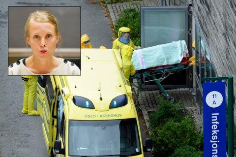 TIL SYKEHUSET:  Ullevål sykehus tok imot Silje da hun var ebola-smittet.  Foto: Terje Pedersen / NTB scanpix