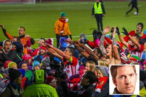 2015-sesongen endte søndag med elleville jubelscener på Alfheim. Nordlys' sportsjournalist Torje Dønnestad Johansen (innfelt) vil være litt festbrems og minner om alt som bør forbedres hvis det skal gå bedre i 2016.