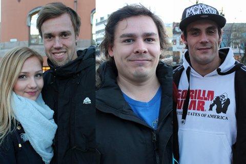 Ulykkesdagen fredag den 13: Nordlys møtte flere folk i Tromsøs gater som forteller om sitt forhold til fredag den 13.  Fra venstre: Eli Vibeke Eriksen (20), Simon Laugsand (23), Henning Bjørkelund (29) og Ole Jørgen Arntun (29).