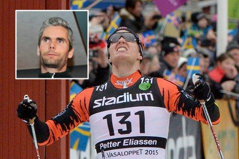 BEDRE AVTALE: Petter Eliassen fikk doblet lønna av manager Thomas Alsgaard (innfelt) etter forrige sesongs maktdemonstrajon i langløpene på ski.